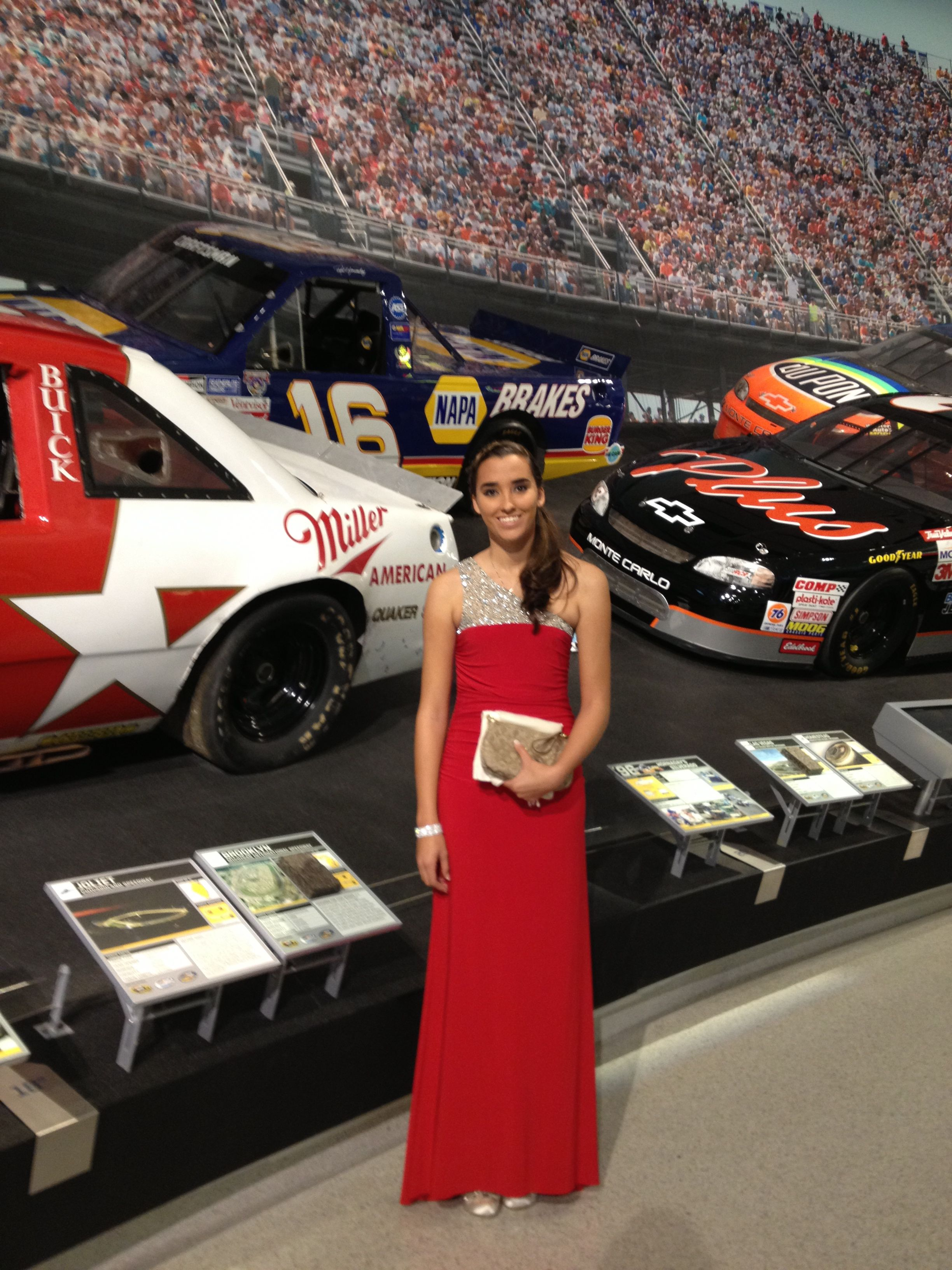 Cassie Gannis At The Nascar Night Of Champions Gala At Nascar Hall Of Fame Most Popular Driver In The Knwest Series 2012 Strapless Dress Formal Model Fashion