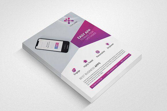Mobile App Promotion Flyer by UNIK Agency on