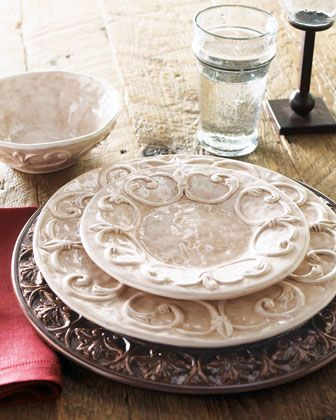 """""""Ducale"""" Dinnerware by Caff Ceramiche at Horchow. http://www.horchow.com/store/catalog/prod.jhtml?itemId=cprod86030120=cat14770744=cat11250731=5=cat000000cat000140cat11250731cat14770744=false"""