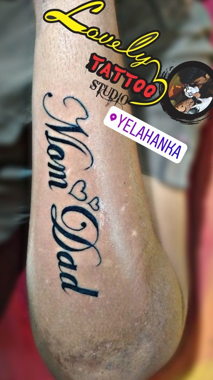 Love Of Mom Dad Tattoo Call Fr Appointment 9066305908 Mom Dad Tattoos Mom Dad Tattoo Designs Mom Tattoos