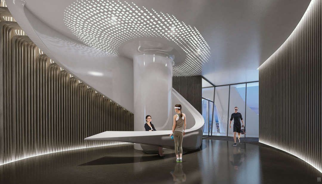 The height of luxury 9 renderings give a glimpse inside for Office design zaha hadid