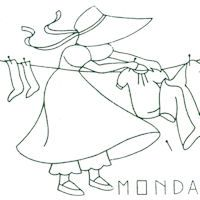 Bonnet Gal Days of the Week: (Embroidery & Applique) from Tip Nut