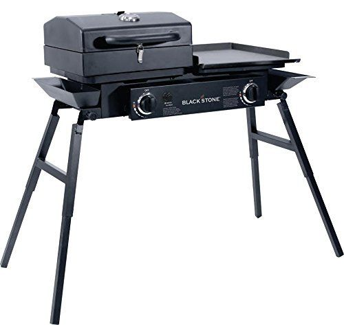 Blackstone Tailgater Portable Gas Grill And Griddle Combo With Barbecue Box And Open Burner Stove Great For Hunting Best Gas Grills Camping Grill Portable Bbq