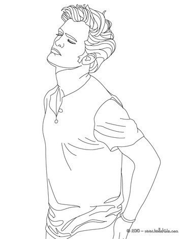 Robert Pattinson winking eyes coloring page. More Famous people ...