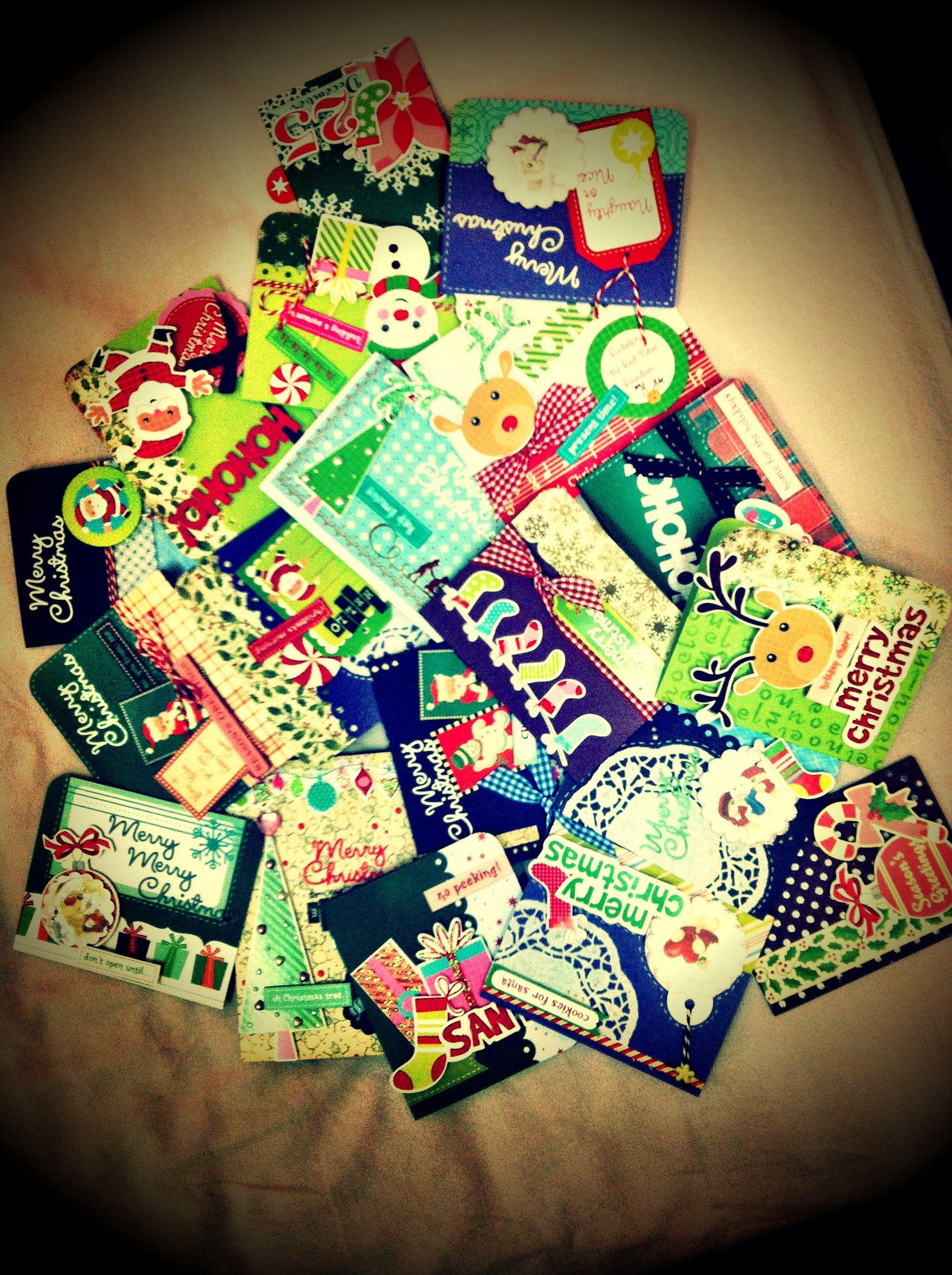 1st round of 2012 xmas cards