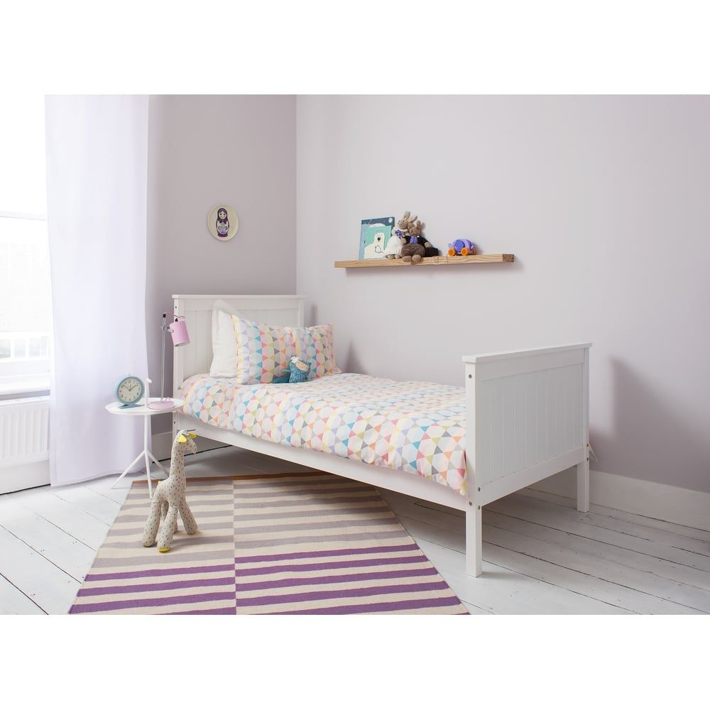 Single Bed Portland Contemporary Bed In White Bed Frames For