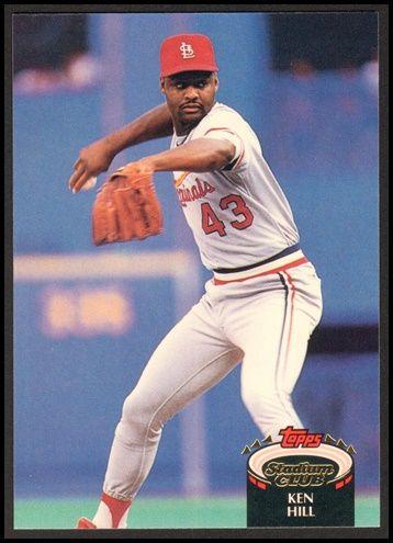 1992 Ken Hill Topps Stadium Club Baseball Card 138