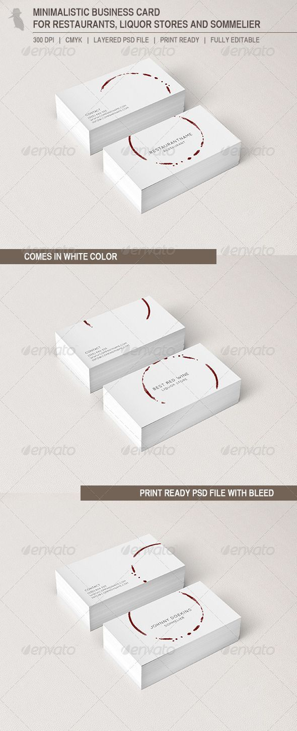 Business Card for Restaurants and Liquor Stores | Business cards ...