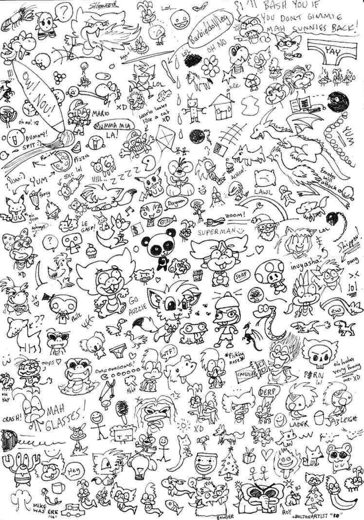 Scribbles Doodle Pages Cute Doodles Doodle Coloring