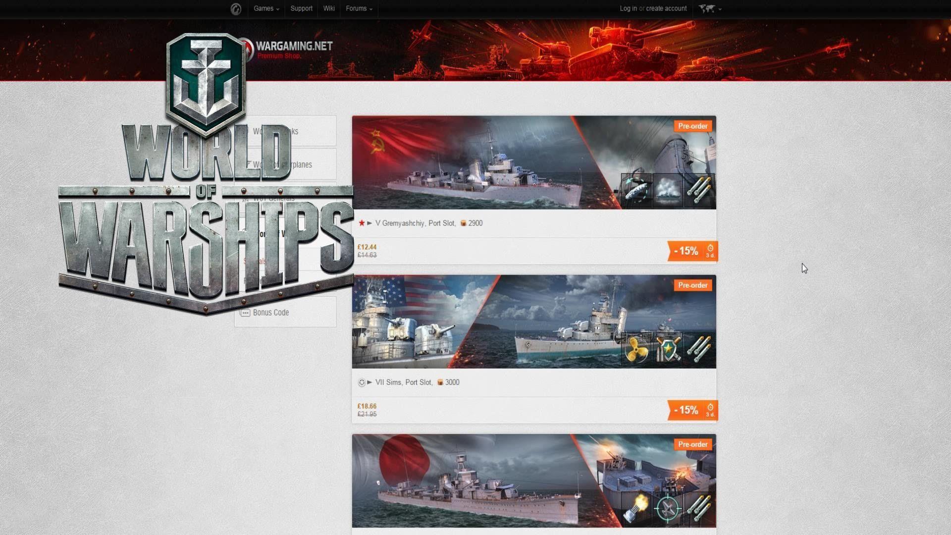 World Of Warships Pre Order Bundles