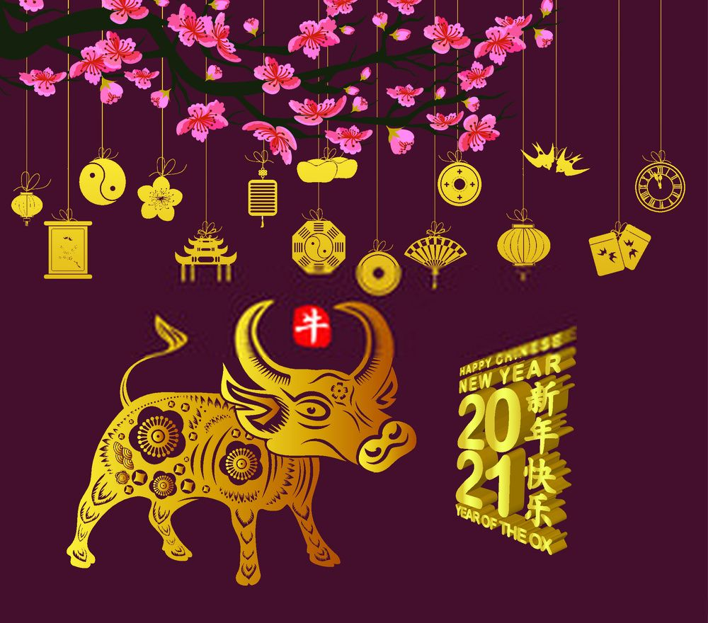 Happy Chinese New Year 2021 Images Ox Year 2021 Year Of Cow 2021 Wallpaper Happy Chinese New Year Chinese New Year Stock Images Free