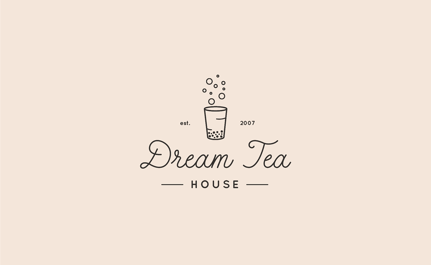 Logo Branding Dream Tea House In 2020 Dream Tea Tea Logo Logo Design Coffee