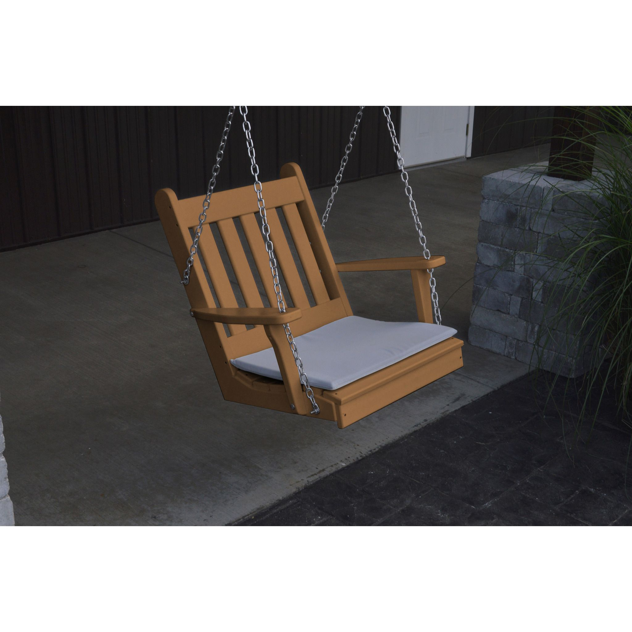 A&L Furniture Co. Traditional English Recycled Plastic 2' Chair Swing