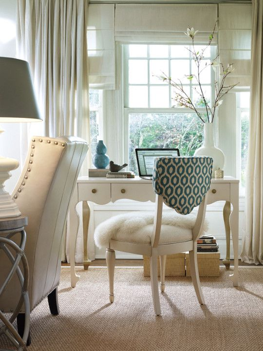 What a light and airy writing desk. Source: Hooker Furniture.