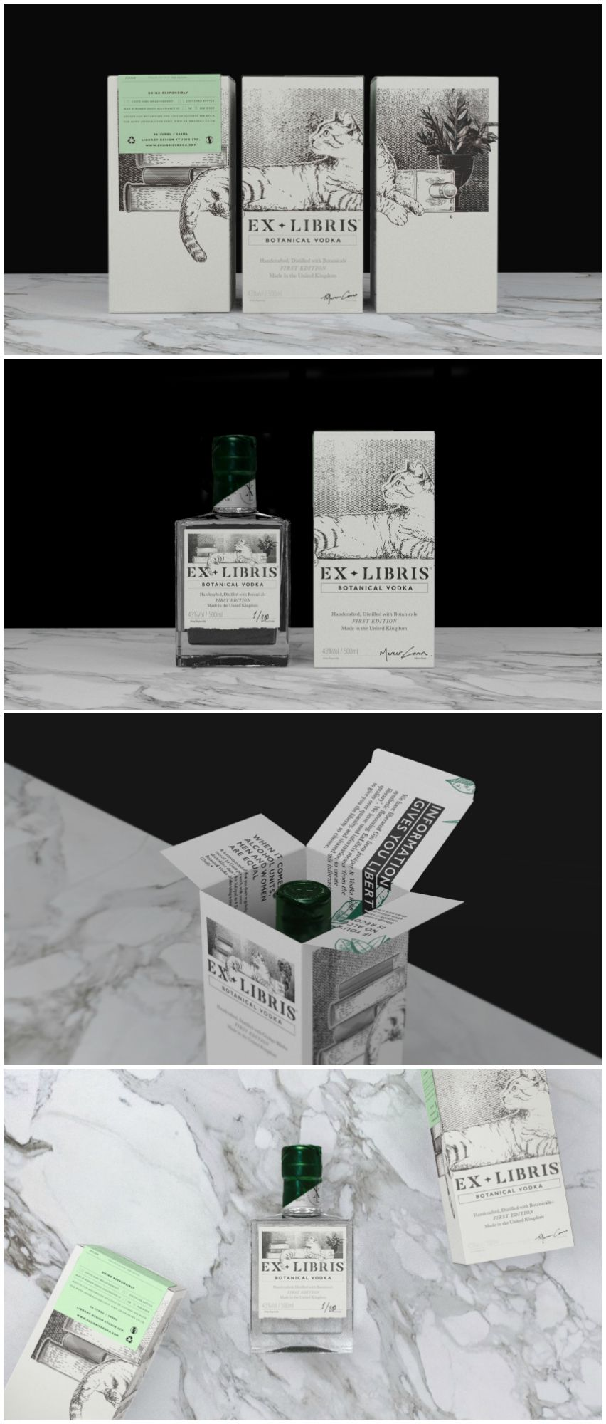 Cats And Craft Botanical Vodka Package Design Pinterest