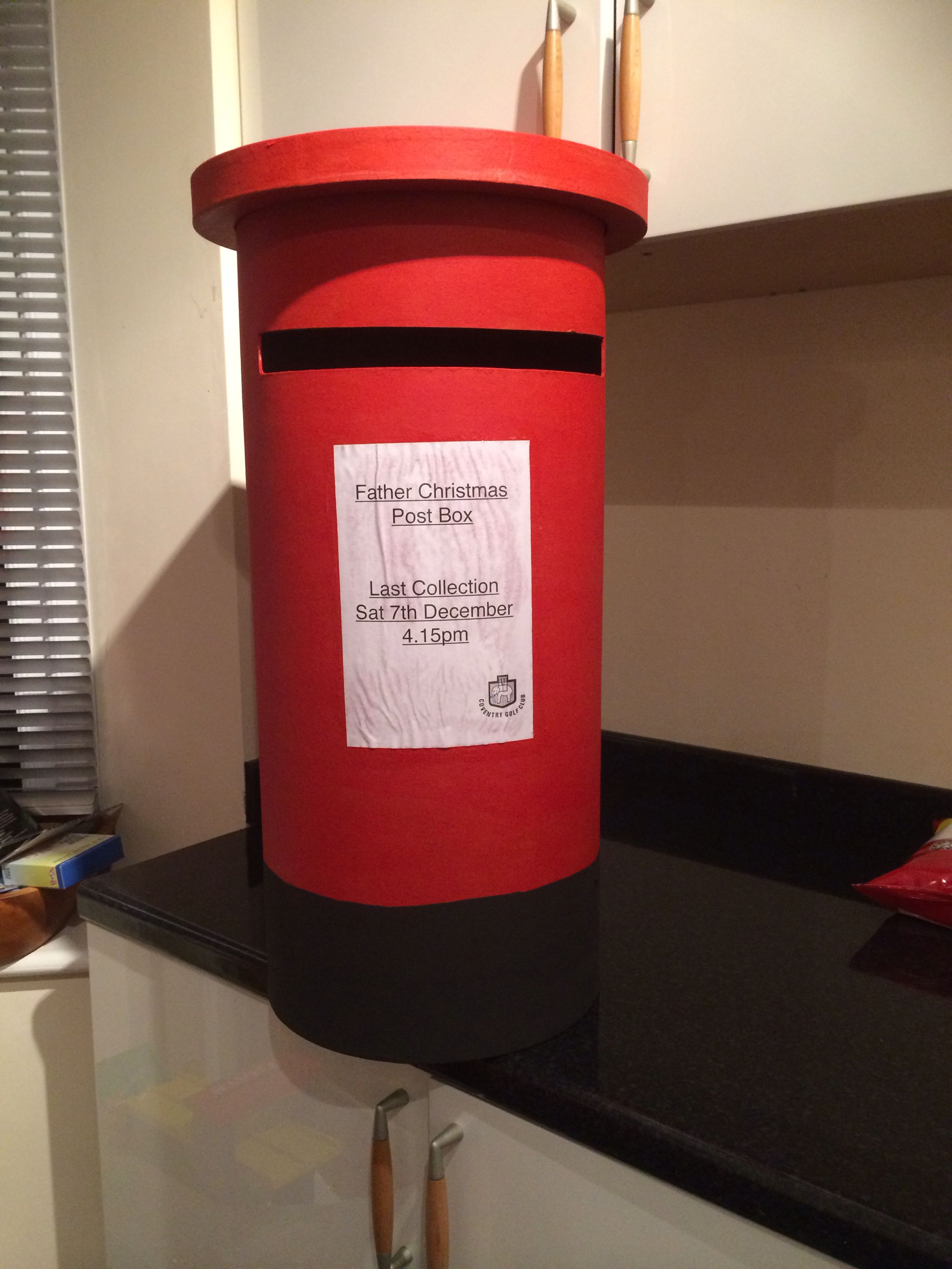 Father Christmas post box I have decorated for a kids
