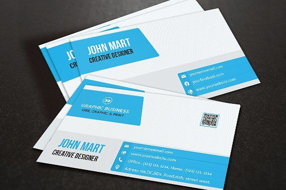 Creative Business Card v.07 Templates This Business Card Template is ...