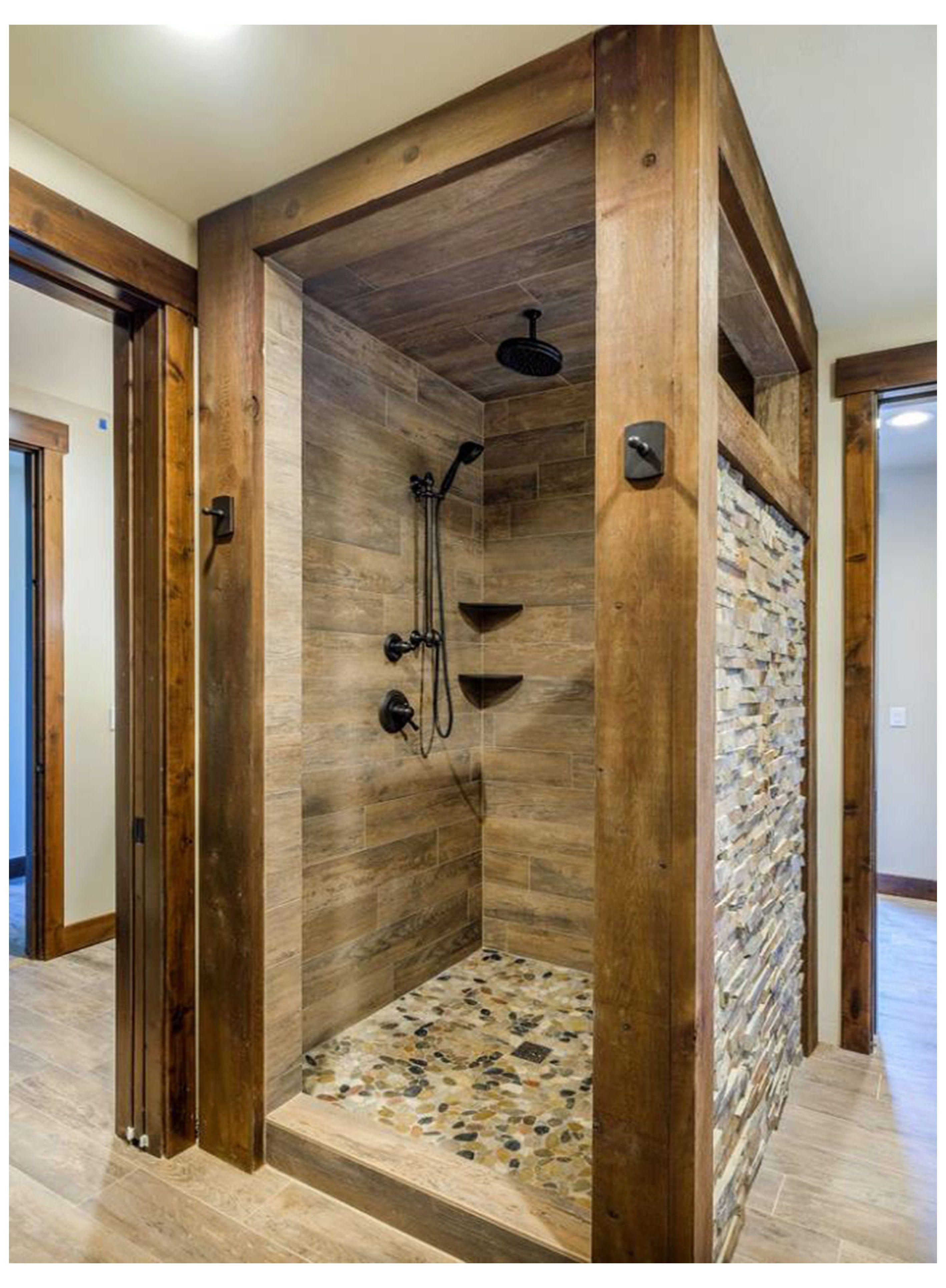river rock shower floor ideas