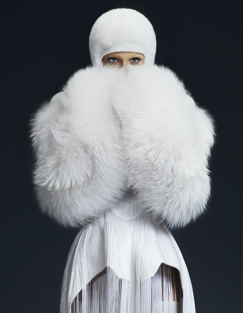 #white #fur #winter