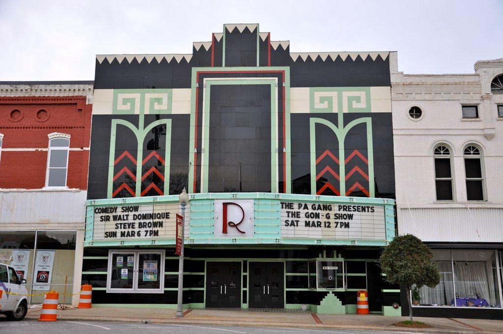 Ritz Theatre Talladega AL Movie Theatre Exterior Art
