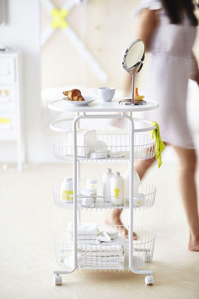Ikea SPRUTT Trolley in weiss fürs Badezimmer oder als Küchenwagen