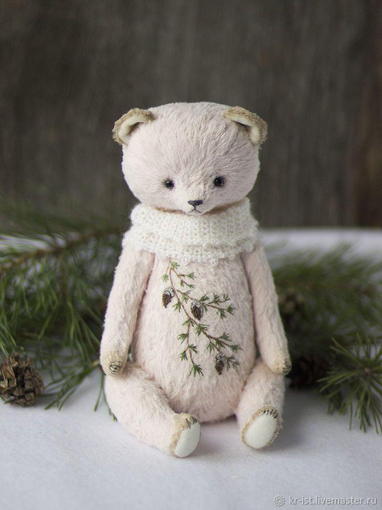 Обложки ручной работы. Ярмарка Мастеров - ручная работа. Купить Мишка тедди Миа. Handmade. Игрушка, зеленый, для интерьера #teddybear