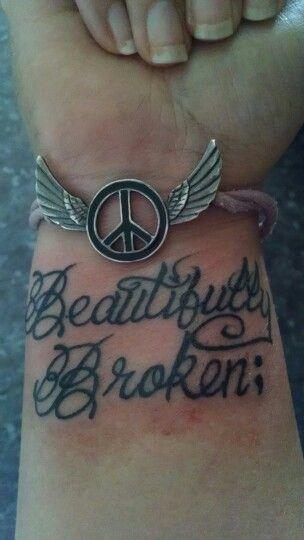 Beautifully Broken Tattoo : beautifully, broken, tattoo, Sometimes, Beautiful, People, Worlds,, Beautifully, Broken