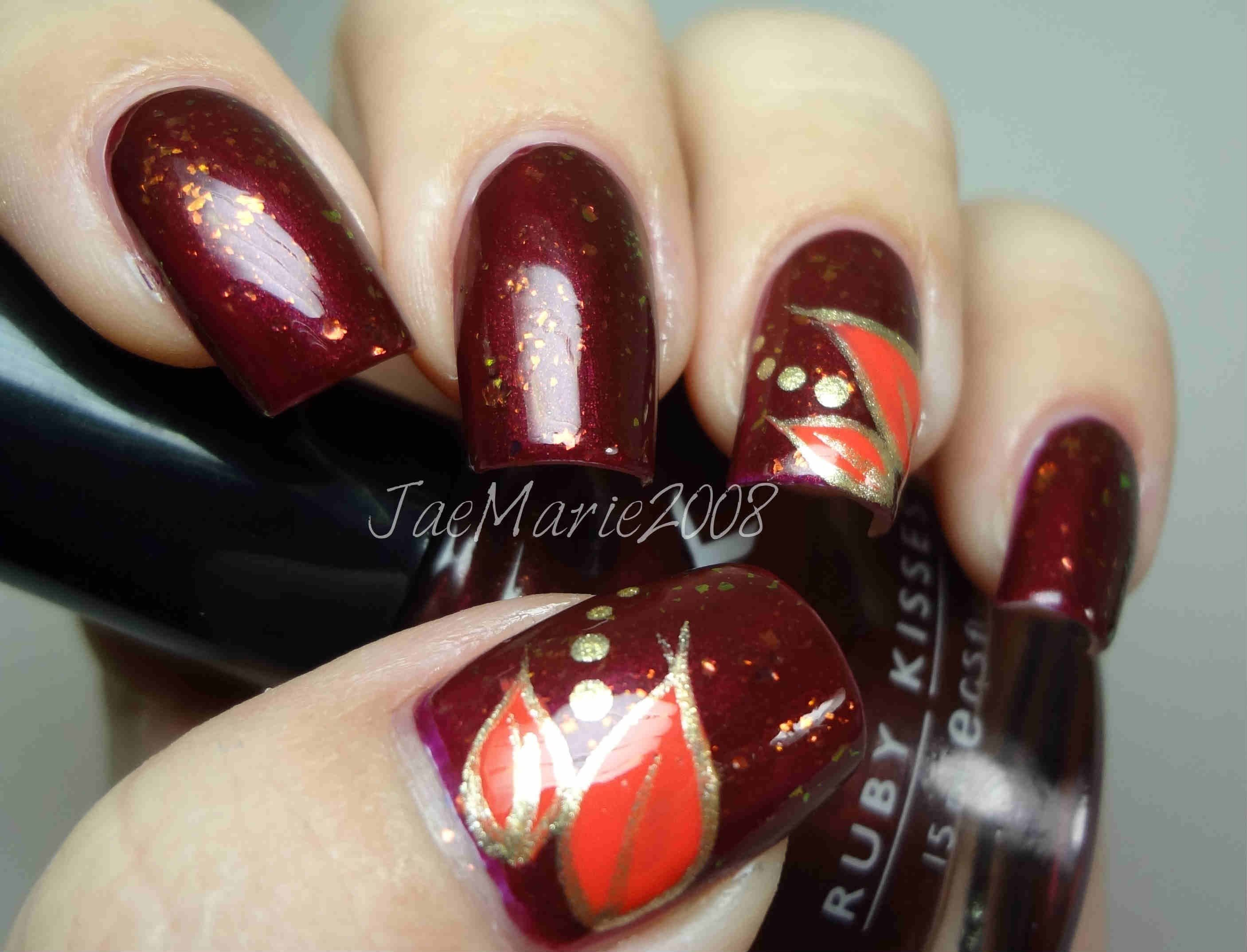 Simple leaves fall nail design youtube fall nail colors simple leaves fall nail design youtube prinsesfo Image collections
