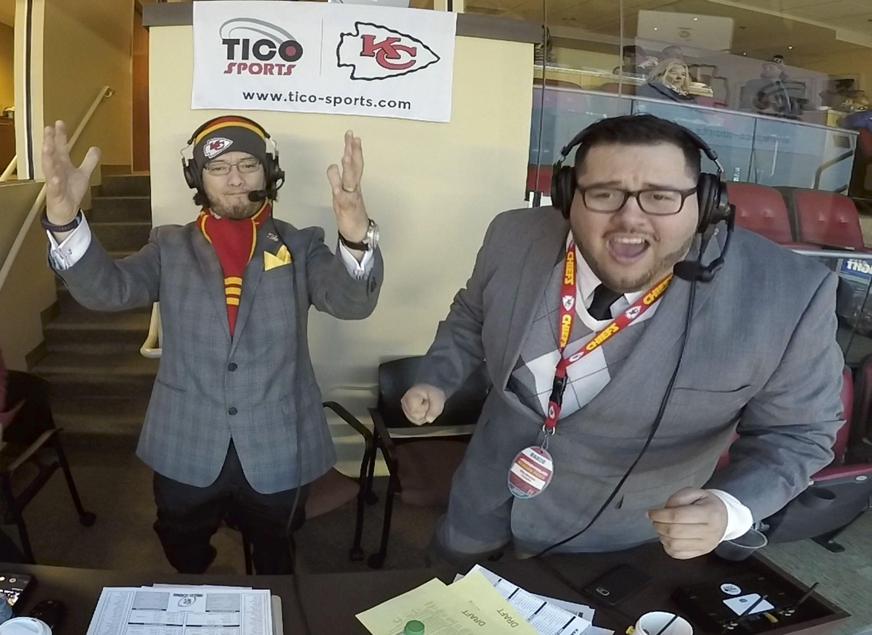 Nebraska football doing Spanish radio broadcast with eye