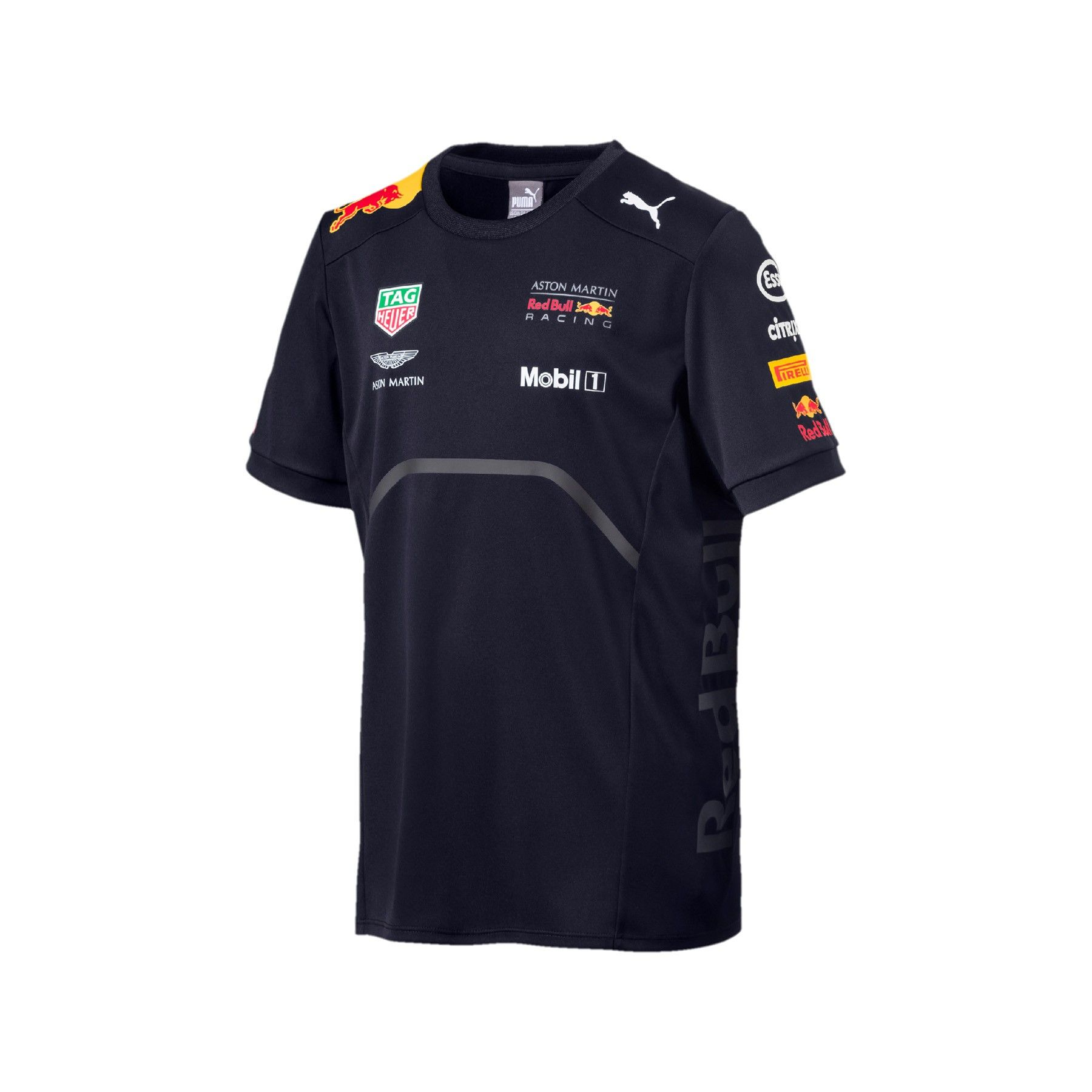 16a25f12b1 Kid's Team T-shirt Blue 2018 Aston Martin Red Bull Racing | Fuel for Fans