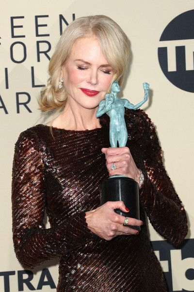 Nicole Kidman Photos - Actor Nicole Kidman, winner of Outstanding Performance by a Female Actor in a Television Movie or Limited Series for 'Big Little Lies',  poses in the press room during the 24th Annual Screen Actors Guild Awards at The Shrine Auditorium on January 21, 2018 in Los Angeles, California. 27522_017 - Nicole Kidman Photos - 6 of 14543