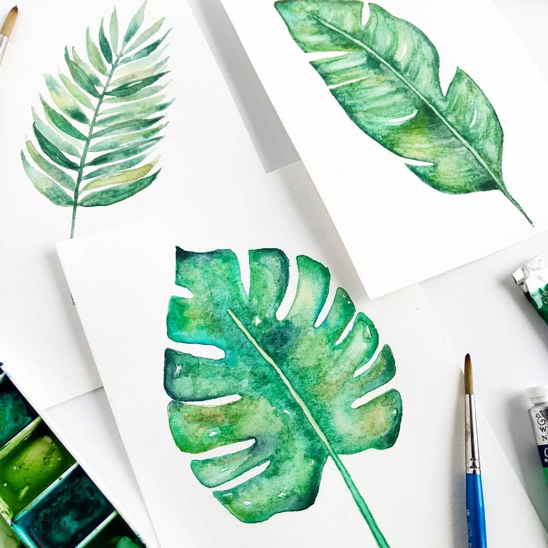 Painted Some Tropical Leaves So I Can Make Myself Some Art For My