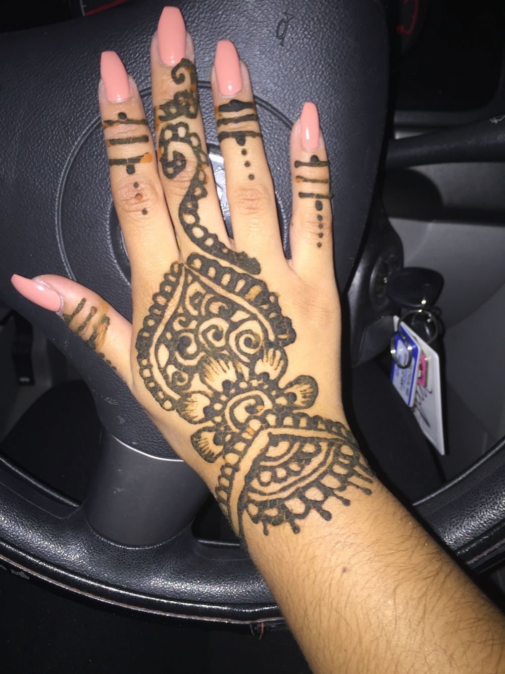 I loved my henna so much! Not sure what color I used on my nails but I know it was opi