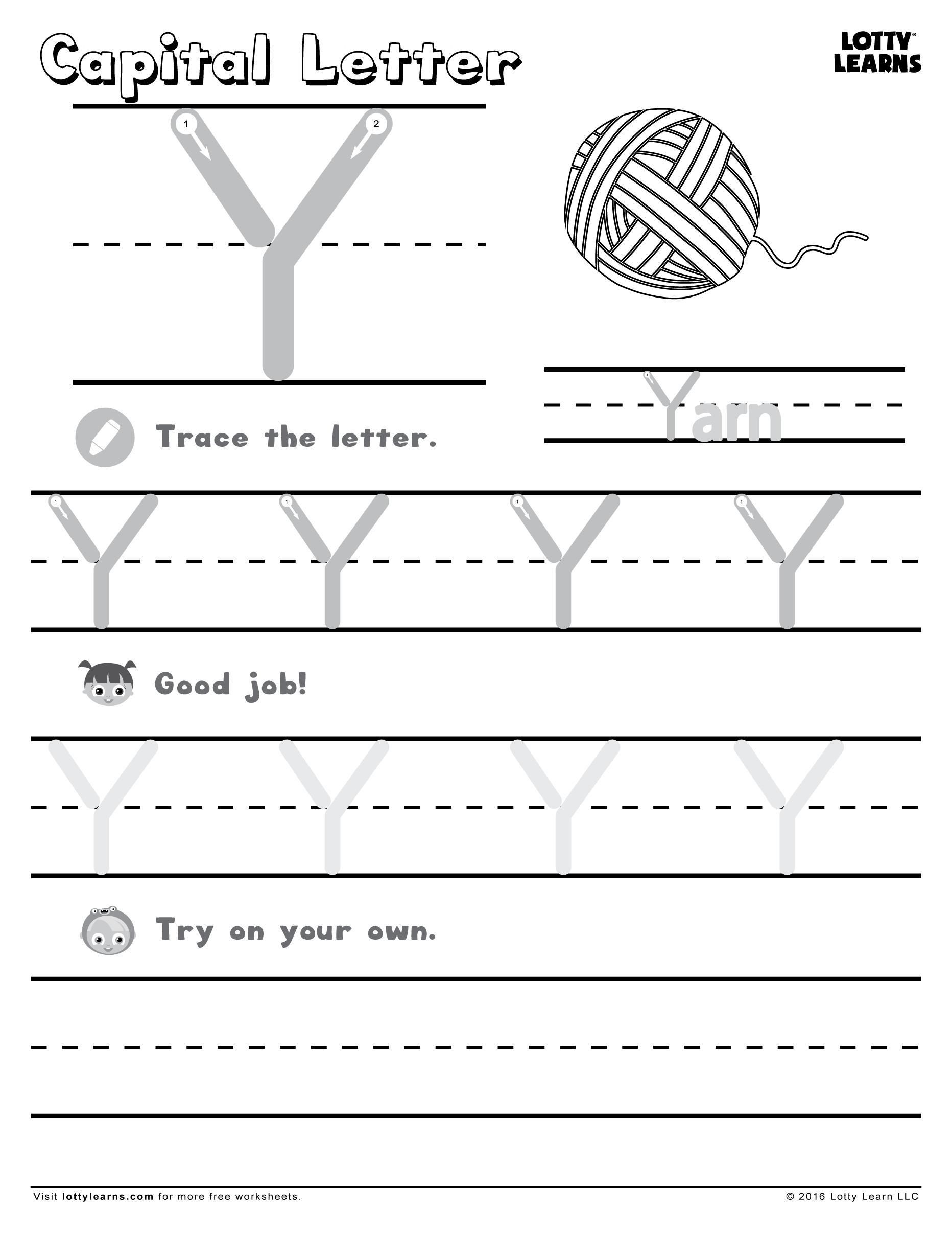 Awesome Learning To Write Letters Printable Worksheets