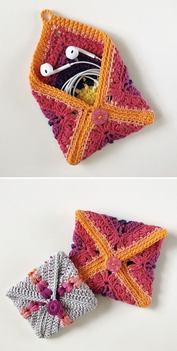 Versatile Crochet Pouches with Free Patterns