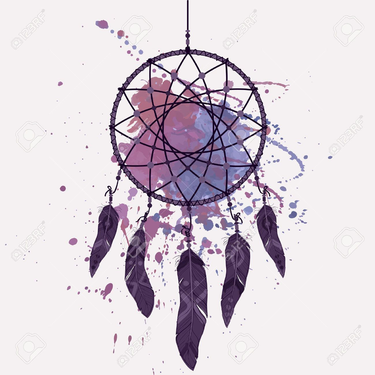 Watercolor dreamcatcher google search dreamcatcher for Dream catcher graphic