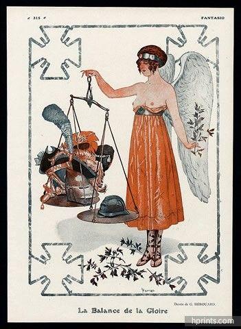 Chéri Hérouard (1881 – 1961). La Balance de la Gloire. Fantasio, 1916. [Pinned 22-ix-2015]