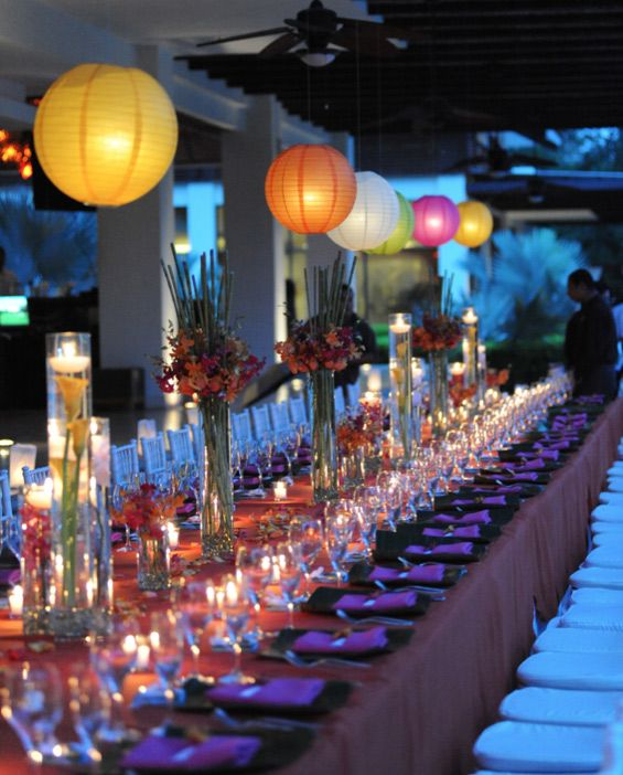 Destination Wedding Reception Ideas: Fun And Colorful Reception Costa Rica Destination Wedding