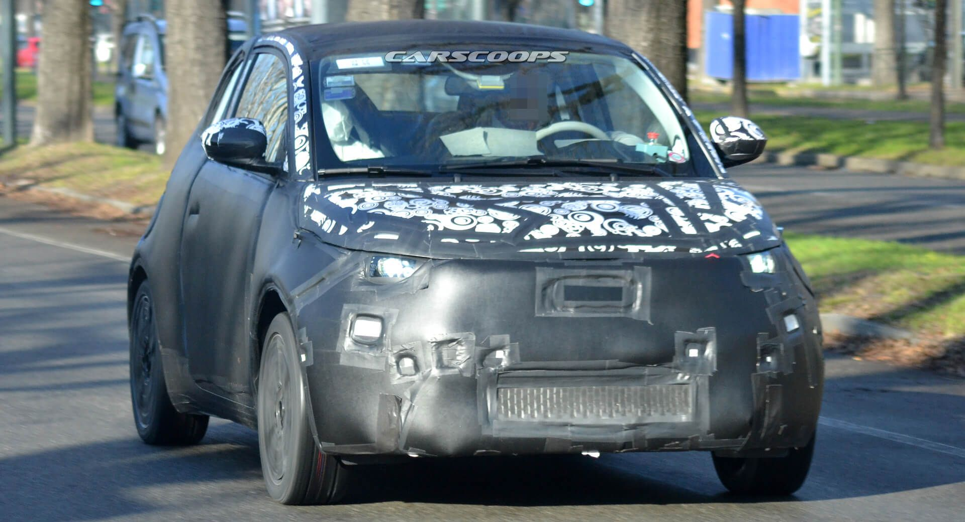 New 2021 Fiat 500e Electric City Car Spied Wearing Production Body