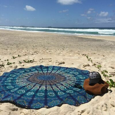 Details About Indian Peacock Mandala Round Wall Hanging Tapestry