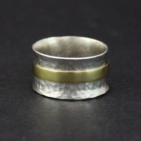 Sterling Silver Ring Sterling Spinner Ring by RebeccaCordingley
