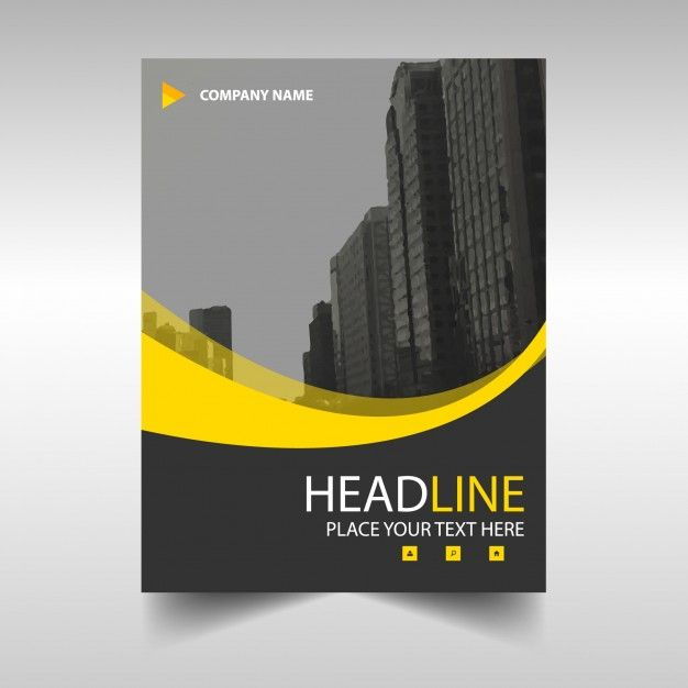 Yellow wavy modern annual report template Free Vector DREAM