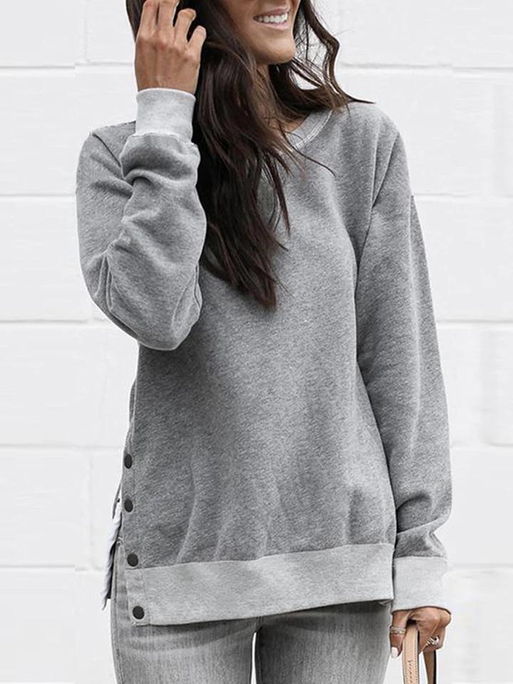Fashion Women Long Sleeve Hoodie Sweatshirt Splice Jumper Pullover Tops Blouse