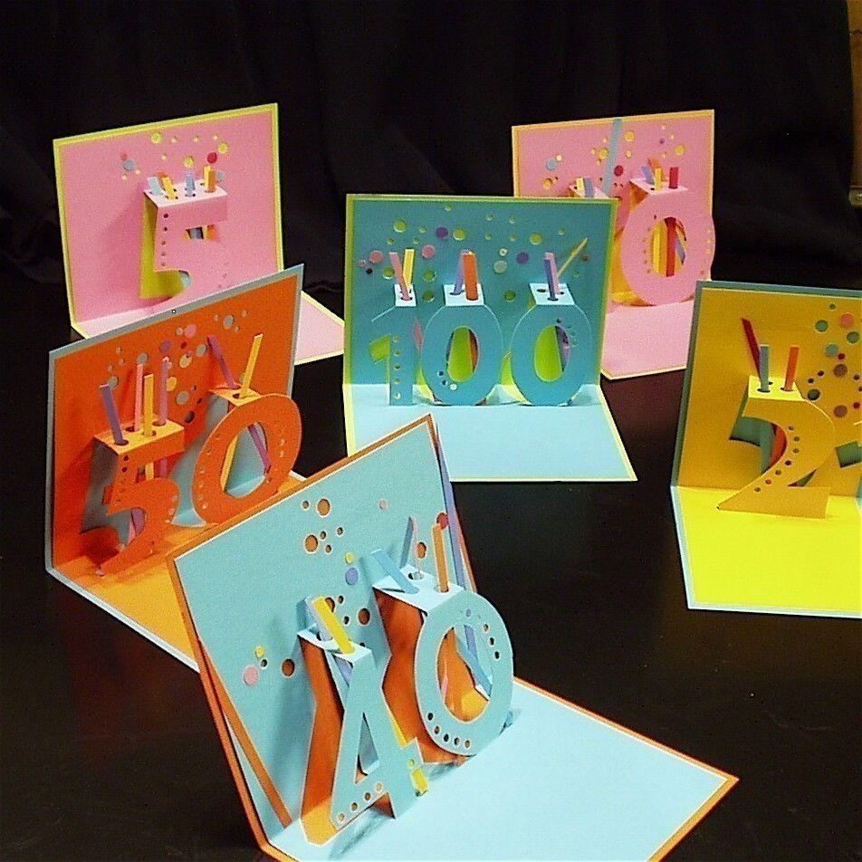 Scrapbook ideas pop up - Ticker Tape And Confetti Birthday Pop Up Card
