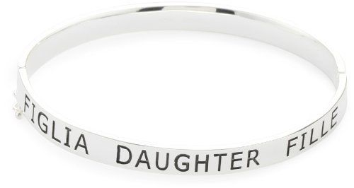 "Carolee LUX ""Sterling Sentiments"" Daughter Hinged Bangle, 7.5"" Carolee LUX. $95.00"