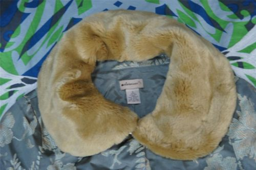 RARE Anthropologie Silk Brocade Faux Fur Collar Jacket Elevenses s 6 | eBay