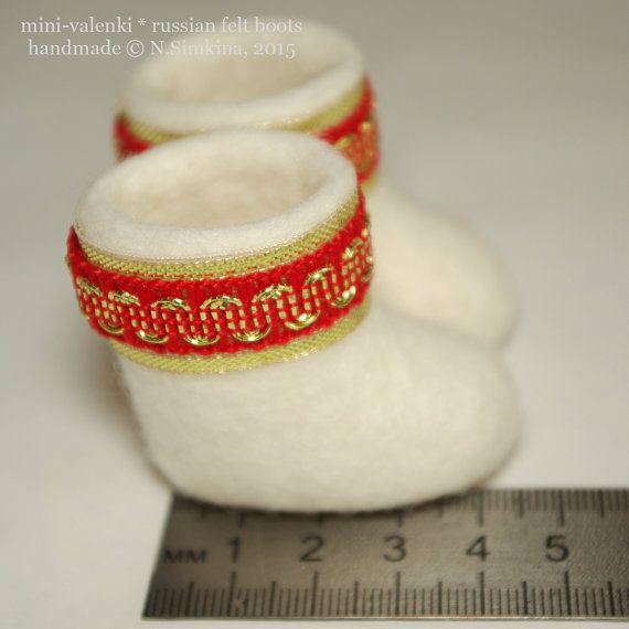 Christmas souvenir boots Russian valenki winter wool by Nataliska