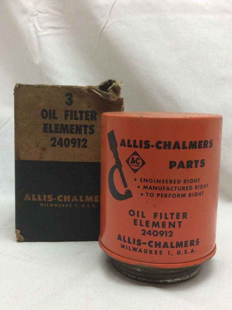 Vintage Car Allis-Chalmers Parts Oil Filters Element 240912