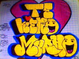 Resultado de imagen para te quiero amiga en graffiti a lapiz