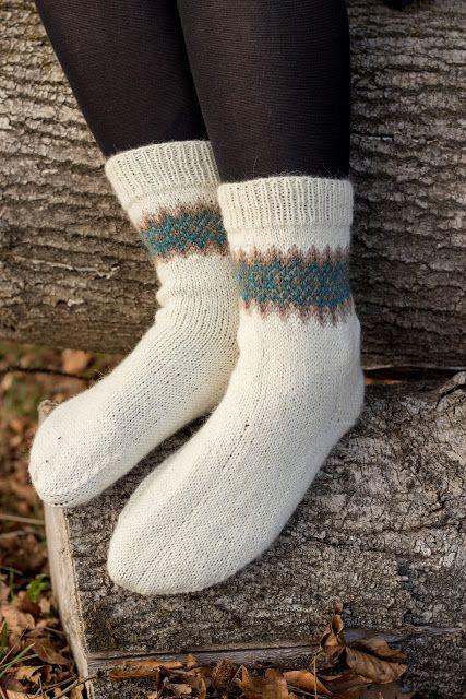 Socken Mit Jacquard Muster Stricken Gruppenboard Häkeln